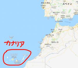 カナリア諸島の位置