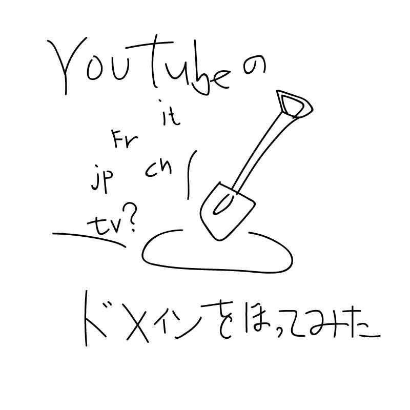 youtubeのドメインを掘ってみたら…