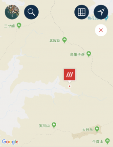 what3wordsで住所を入れると