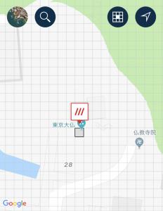 東京大仏の位置